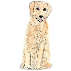 Pavilion Gift Company Darcy Golden Retriever Vase ($23) ❤ liked on Polyvore featuring home, home decor, vases, ceramic vases and ceramic home decor