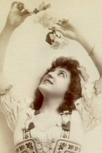"""""""The Gondoliers,"""" Cora Tinnie as Vittoria, 1890, authorized American production."""