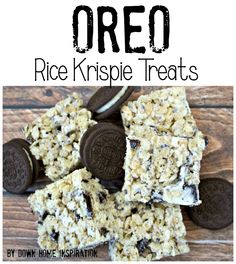 Oreo Rice Krispie Treats - Down Home Inspiration