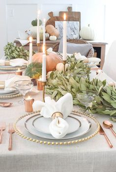 Thanksgiving is only the most anticipated meal of the year. and presentation is everything. Need inspiration? Tap the link in our bio for our favorite Thanksgiving tablescapes. Thanksgiving Tablescapes, Holiday Tables, Thanksgiving Decorations, Seasonal Decor, Holiday Decor, Thanksgiving Ideas, Winter Decorations, Christmas Tables, Thanksgiving Holiday
