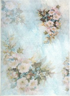 Ricepaper for Decoupage Decopatch Scrapbook Craft Sheet A/3 Vintage Flowers