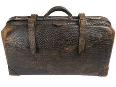Vintage Walrus Hide Large Leather Man Bag