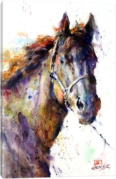 Horse Watercolor Animal Art Print By Dean Crouser Etsy - Pancho Giclee Print From An Original Watercolor Painting By Dean Crouser Original Has Been Sold This Print Is Available In A Variety Of Sizes Which Can Be Seen On The Size Drop Down Menu Pancho Gi # Watercolor Horse, Watercolor Animals, Watercolor Print, Watercolor Paintings, Watercolors, Watercolor Paper, Animal Paintings, Animal Drawings, Art Drawings
