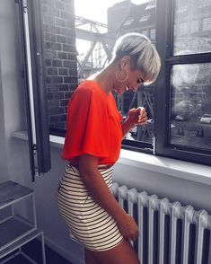 likes, 122 Comments - м α d e l e i e ѕ c h n n (Maddi Poodle) o . Short Pixie Haircuts, Pixie Hairstyles, Short Hairstyles For Women, Short Grey Hair, Short Hair Cuts, Short Hair Styles, Blonde Pixie, Short Blonde, Hair Addiction