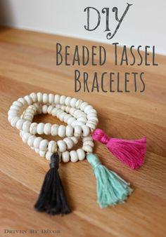 Driven By Décor: DIY Beaded Tassel Bracelets