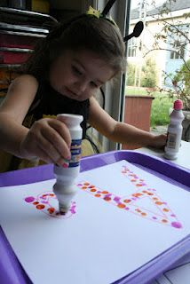 Letter Formation with Bingo Dot Markers.  This website also has TONS of other ideas and activities for Pre-K and K, including lessons on the fruits of the Spirit.