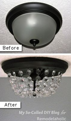how to turn hollywood bathroom light fixture into shaded