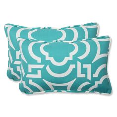 Carmody Peacock Rectangular Throw Pillow (Set of 2)