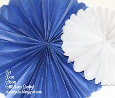 DIY tissue paper rosette tutorial!