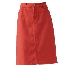 Croft and Barrow Denim Pencil Skirt