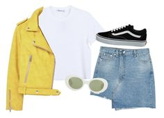 """""""honeybun"""" by chanelandcoke ❤ liked on Polyvore featuring Alexander Wang, MANGO, Vans and Acne Studios"""