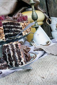 My man's kitchen...: Tort kokosowo-czekoladowy