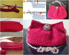 crochet evening purse-free pattern at wonderfuldiy f