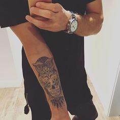 Owl skull #tattoo on @mr_tomto. ✨ #LooksGood #Idea