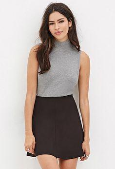 Mini Skater Skirt - Skirts - 2000164589 - Forever 21 EU English (Rood)