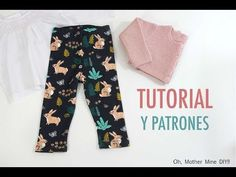 Free pattern & video tutorial for baby leggings - Oh Mother Mine Free Leggings, Baby Leggings, Baby Girl Dresses, Baby Dress, Diy For Girls, Baby Sewing, Baby Patterns, Diy Clothes, Kids Outfits