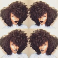 Concerning the hair breakage and loss caused by relaxers, more and more African American women go back to Afro, locks and other natural hairstyles. Edgy Natural Hair, Pelo Natural, Natural Hair Tips, Natural Hair Journey, Natural Hair Styles, Natural Girls, Kinky Curly Hair, Curly Hair Styles, Curly Braids
