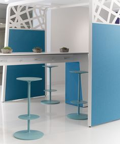 "Izzy introduced this fun new ""Hoteling"" table and privacy screen at Neocon 2012."