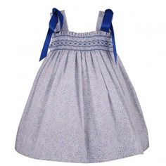 Vestido niña verano de tirantes para verano con lazos azules 44,9