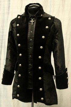 STEAMPUNK FASHION FOR MEN | Black Captain's Jacket | Men's Steampunk Fashion