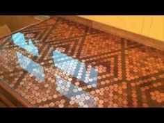Penny Countertop with Bestbartopepoxy.com - YouTube
