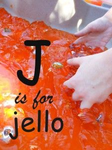 Letter J is for Jello! ~ Letter of the week activities.