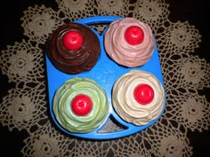 """Fisher Price cupcakes. The icing came off and left just the """"muffin"""" part. I loved these! My heart is so happy right now."""