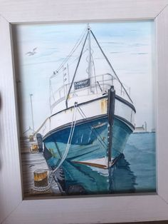 Excited to share the latest addition to my shop: Stormkop Fishing Boat Fishing Boats, Fly Fishing, Seagulls Flying, Your Paintings, Art For Sale, Surfing, Africa, Ocean, Etsy Shop