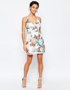 Image 4 ofTrue Decadence Petite Tropical Brocade Cami Prom Dress