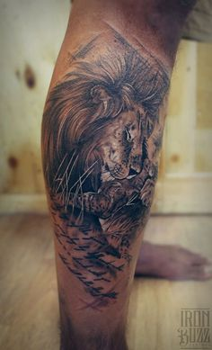 Lion Sleeve Tattoo - http://giantfreakintattoo.com/lion-sleeve-tattoo/