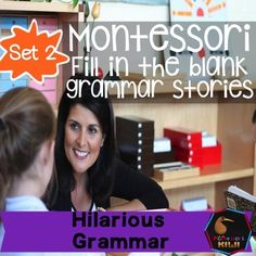 Montessori Elementary extension activity for grammar and language. Students fill in the blanks in these four stories. The results are some very amusing stories. Your students will need to know what nouns, verbs , adjectives, adverbs and prepositions are and the montessori symbols for these.