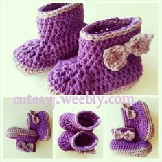 Booties. Purple