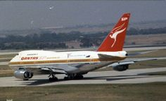 "Qantas B747SP Tullamarine. The logo says"" Commowealth Games-Brisbane"", and they were in 1982"