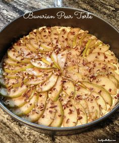 Easy, yet Elegant, Bavarian Pear Torte