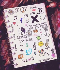 Image about art in doodles by Raquel on We Heart It Notebook Drawing, Notebook Doodles, Notebook Art, Doodle Art Journals, Cute Easy Drawings, Art Drawings Sketches Simple, Pencil Art Drawings, Doodle Drawings, Hand Doodles