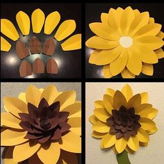 How To Make Paper Flowers Paper Flowers Diy Flower Crafts Diy Paper Sunflower Baby Showers Paper Sunflowers Sunflower Cakes Paper Flower Backdrop Sunflower Bulletin Board Paper Sunflowers, Paper Flowers Craft, Flower Crafts, Paper Crafts, Sunflower Birthday Parties, Sunflower Party, Sunflower Wall Decor, Diy And Crafts, Crafts For Kids