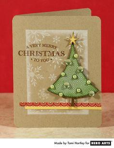Hero Arts Cardmaking Idea: Very Merry Christmas