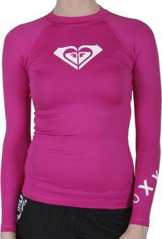 Roxy Whole Hearted LS Women's Rash Guard - Surf Shop > Women's Surf > Women's Wetsuits > Women's Rash Guards #skincancer #melanoma