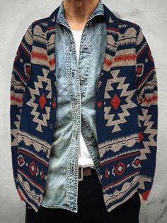 Stylish Long Sleeve Printed Sweater – joymanmall sweaters over dresses sweaters with skirts sweaters for men sweaters for men fashion sweaters for men winter sweaters for men cardigan style # Sweater Fashion, Men Sweater, Men Cardigan, Bohemian Outfit Men, Sweater Over Dress, Pullover Mode, Denim And Supply, Print Jacket, Types Of Sleeves