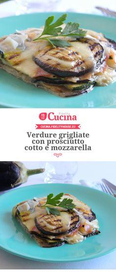 #Verdure grigliate con prosciutto cotto e #mozzarella della nostra utente Giovanna. Unisciti alla nostra Community ed invia le tue ricette!