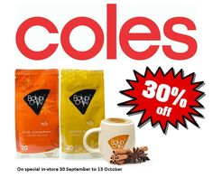 #Bondi #Chai #Coles Supermarket Special - 20 serve packs now just $7.00! A whopping $3.00 Savings. Be sure to get your favourite flavour in-store today.