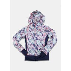 RBX Active Girl's Fashion Printed Lightweight Zip-Up Hoodie with Cowl Neck