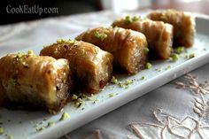 Cook, eat up. Greek Sweets, Greek Desserts, No Cook Desserts, Greek Recipes, Food Network Recipes, Cooking Recipes, The Kitchen Food Network, Phyllo Dough, Greek Cooking