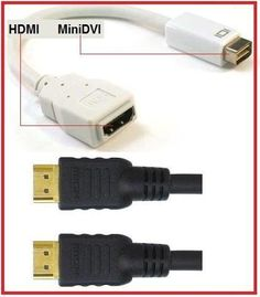 PTC Premium Mini-DVI to HDMI adapter with 15 ft BLK Premium HDMI cable VALUED PACK - for iMac (Intel Core Duo), MacBook, and 12-inch PowerBook G4 by PTC. $6.05. The Mini-DVI to HDMI adapter is designed for the iMac (Intel Core Duo), MacBook, and 12-inch PowerBook G4 with Mini-DVI connection. Allow you to connect to an HDTV, external monitor or projector. This VALUE Pack includes a Premium Gold Series 15 ft HDMI Certified Cable.. Save 66% Off!