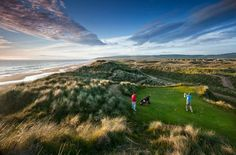 One of the Mull of Kintyre's courses, Machrihanish Dunes, use some unusual greenkeeping techniques to keep the course looking as great as it does here - they have some surprising residents on the course too!  Photo: Machrihanish Dunes, Machrihanish, Kintyre