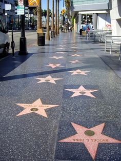 Walk of Fame Hollywood, California, USA Hollywood Walk Of Fame, Hollywood Boulevard, Hollywood Sign, Hollywood Waves, Hollywood Glamour, Hollywood Stars, City Aesthetic, Travel Aesthetic, Places To Travel