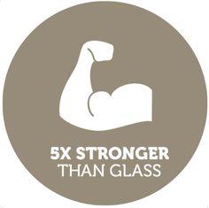 Tempered glass is 4-5 stronger than 'regular' glass!
