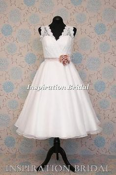Uk design 1612 #50's 60's vintage short knee tea #length #wedding dress colour ,  View more on the LINK: http://www.zeppy.io/product/gb/2/282320671227/