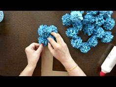 DIY Floral Alphabet/Number for Birthday/Anniversary - YouTube
