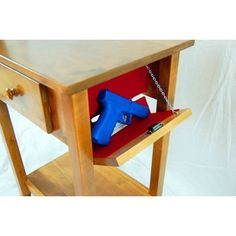 Protecting your valuables and loved ones with Secret Compartment Furniture. Small Accent Tables, Small End Tables, Hidden Gun Storage, Secret Storage, Diy Furniture Plans, Handmade Furniture, Bedroom Furniture, Hidden Gun Cabinets, Secret Compartment Furniture